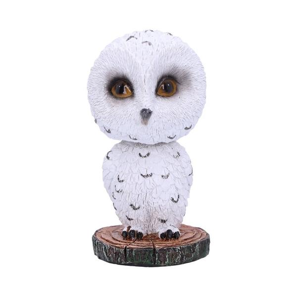 Bobble Beak Snowy Owl Bobble Head Figurine