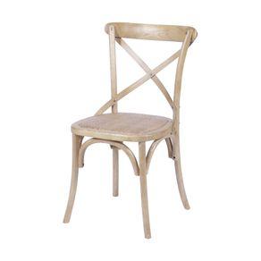 Cadeira Katrina em Madeira Bege