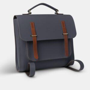 Cambridge Satchel The Messenger Backpack - Dapple Matte & Tan Bridle