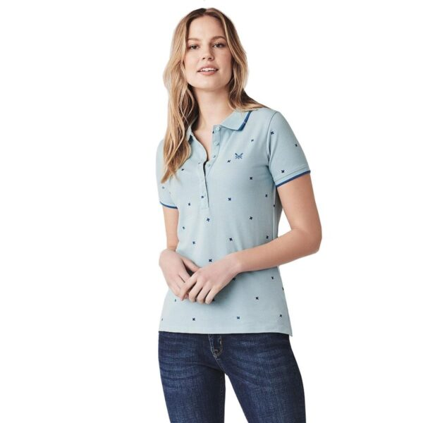 Crew Clothing Womens Revamped Classic Polo Blue Bird 10