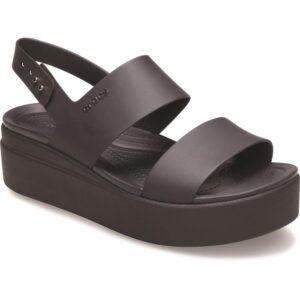 Crocs Brooklyn Womens Low Wedge in Black