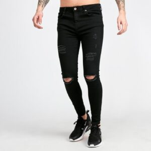 Distressed Skinny Denim Jean