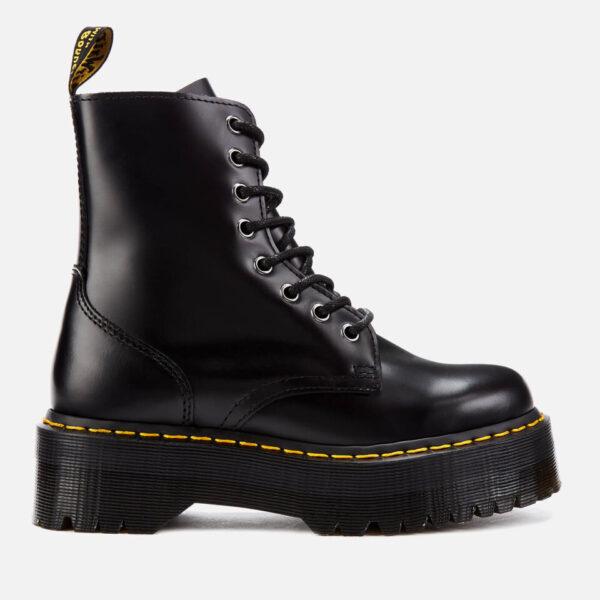 Dr. Martens Jadon Polished Smooth Leather 8-Eye Boots - Black - UK 5