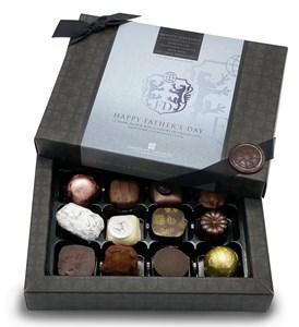 Father's Day 12 Chocolate Gift Box - Personalised 12 Box Dark