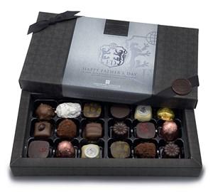 Father's Day 18 Chocolate Gift Box - Personalised 18 Box Dark
