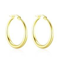 Gold 25mm Hoop Earrings