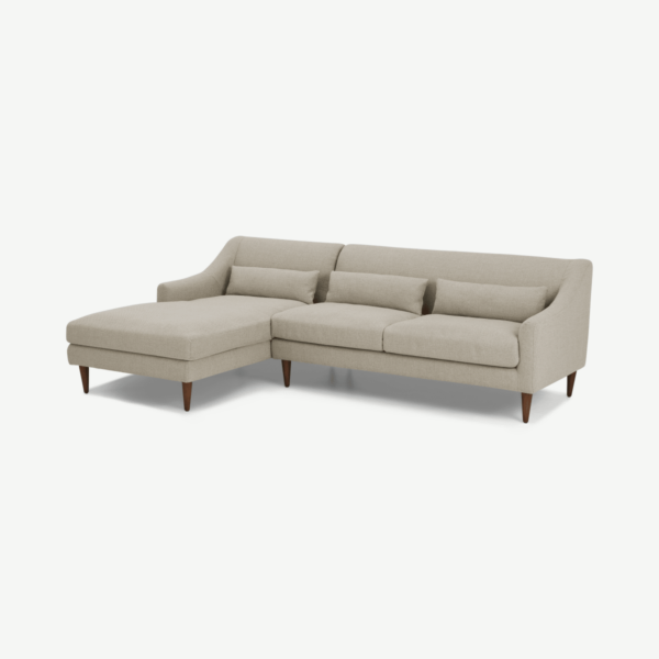 Herton Left Hand Facing Chaise End Sofa, Barley Weave