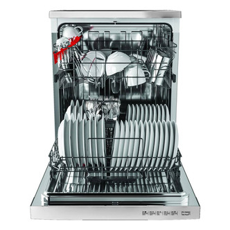 Hoover HDYN1L390OW 60cm Dishwasher in White 13 Place Settings F Rated