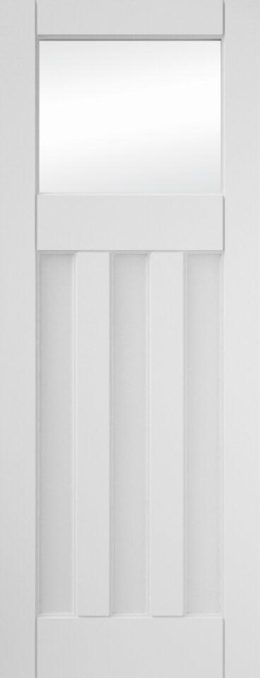 "JELD-WEN Internal White Primed 3 Panel Clear Glazed Door 1981x762x35mm (78""x30"")"