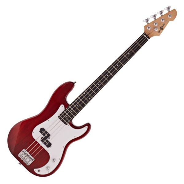 LA Bass Guitar by Gear4music Red