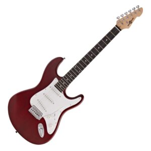LA Electric Guitar by Gear4music Red