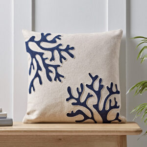 NEW Embroidered Coral Cushion