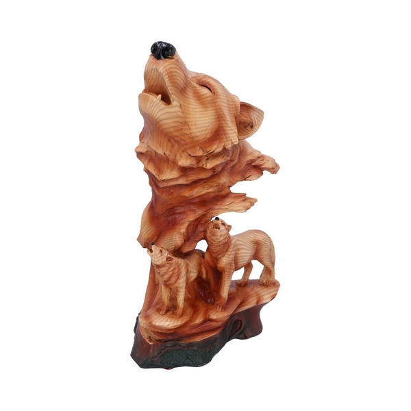 Natural Symphony Howling Wolves Bust