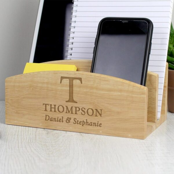 Personalised Initial Wooden Technology Stand