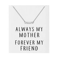 Silver Mum Necklace with Quote Card