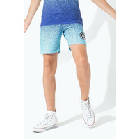 Speckle Fade Mint/Blue Kids Shorts - 7/8Y