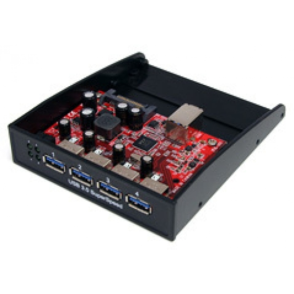 StarTech USB 3.0 Front Panel 4 Port Hub (3.5 - 5.25 inch Bay)
