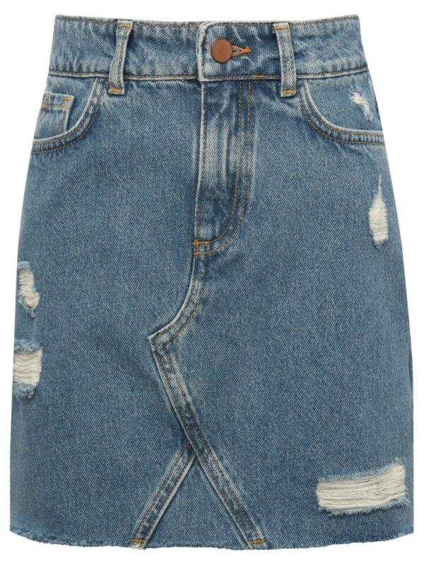 Teen denim skirt ri - Blue