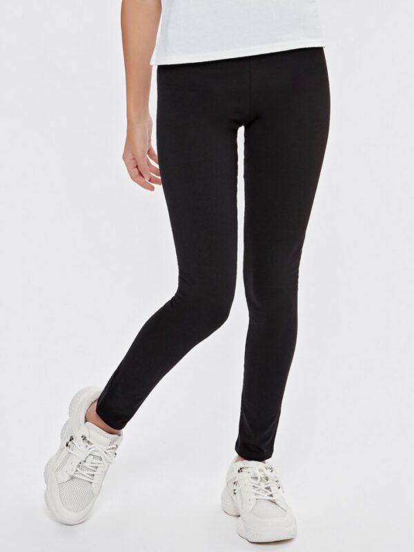 Teen girl plain black legg - Black