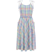 """The """"Suzy Sun Dress"""" in Summer Check Print, Easy To Wear Style From The 1950s"""