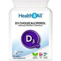 Vitamin D3 Cholecalciferol 10,000iu Tablets (Units: 90 Tablets)
