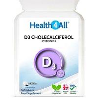 Vitamin D3 Cholecalciferol 1,000iu Tablets (Units: 360 Tablets)