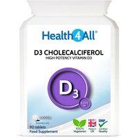 Vitamin D3 Cholecalciferol 5,000iu Tablets (Units: 90 Tablets)