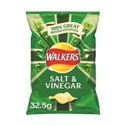 Walkers Salt and Vinegar Crisps 32.5g (32 pack)