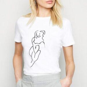 White Sketch Print Short Sleeve T-Shirt New Look