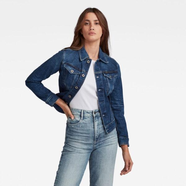 3301 Slim Jacket - Medium blue - Women