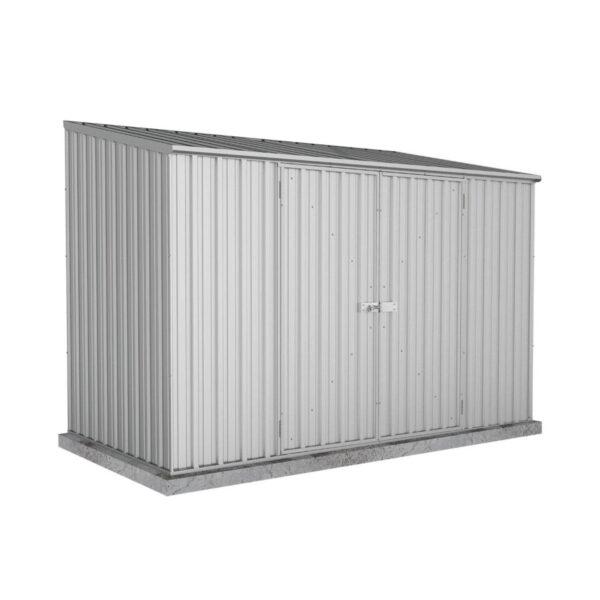 Absco 10 x 5 Titanium Metal Space Saver Pent Garden Storage Shed