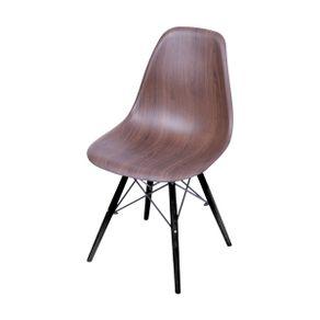 Cadeira Eames em Madeira e PP Marrom