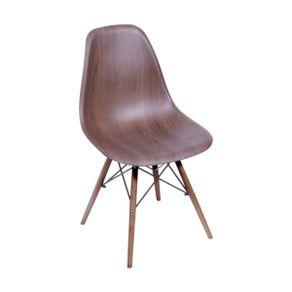 Cadeira Eames em Metal e PP Wood