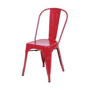 Cadeira Iron em Metal Vermelha