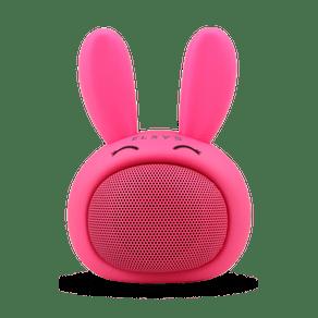 Caixa de som Bluetooth coelho de alta frequência Fun - Rosa