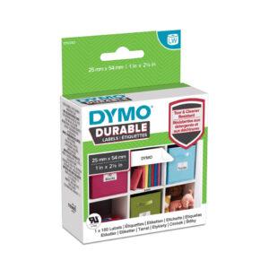 Dymo 2112283 LW Durable Small Multi Purpose Label 25mm x 54mm Black on