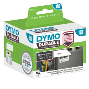 Dymo 2112289 LW Durable medium multi-purpose 57mm x 32mm Black on Whit
