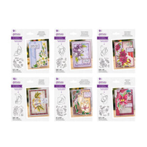 Gemini Christmas Floral Spray Stamp & Die 6 Piece Collection