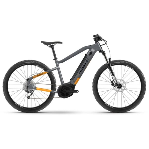 Haibike Hardseven 4 2021 Hardtail Electric Mountain Bike Cool Grey / Lava Matte