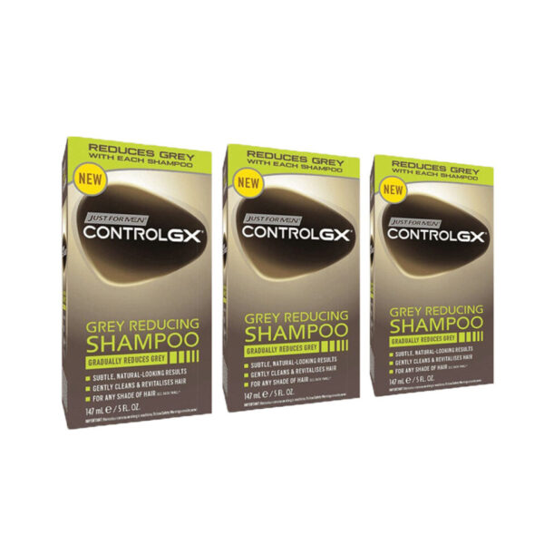 Just For Men Control GX Grey Reducing Shampoo Triple Pack