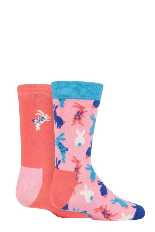 Kids 2 Pair Happy Socks Bunny Socks Multi 7-9 Years
