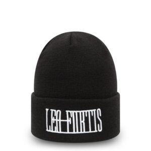 Leo Fortis Black Cuff Beanie Hat