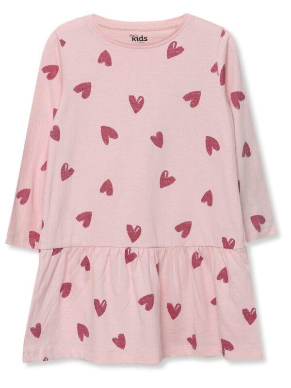 Love Heart Print Dress (9mths-5yrs) - Pink