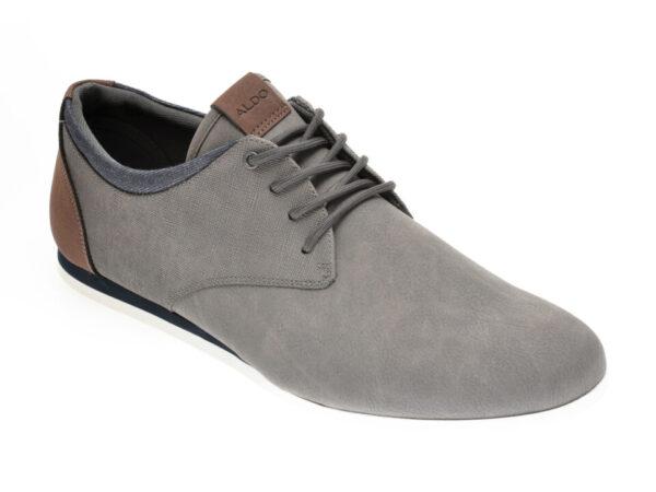Pantofi ALDO gri, Aauwen-R060, din piele ecologica