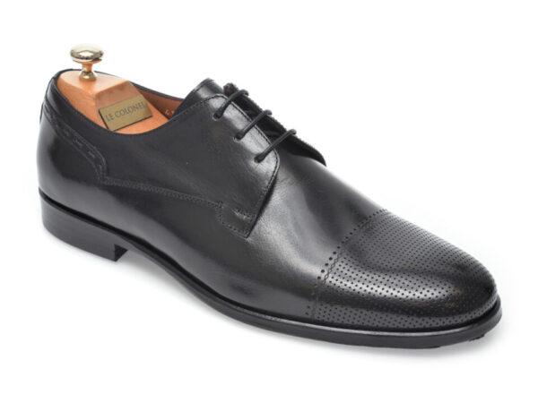 Pantofi LE COLONEL negri, 60517, din piele naturala