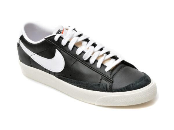 Pantofi sport NIKE negri, BLAZER LOW 77 VNTG, din piele naturala