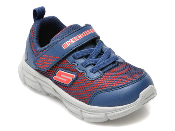 Pantofi sport SKECHERS bleumarin, Advance, din material textil si piele ecologica