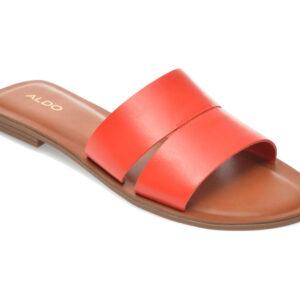 Papuci ALDO rosii, Andonia600, din piele naturala