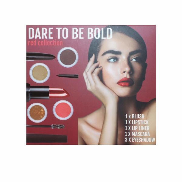 Set Machiaj 7 piese, Dare To Be: Bold Red Collection CB&CO - Rosu