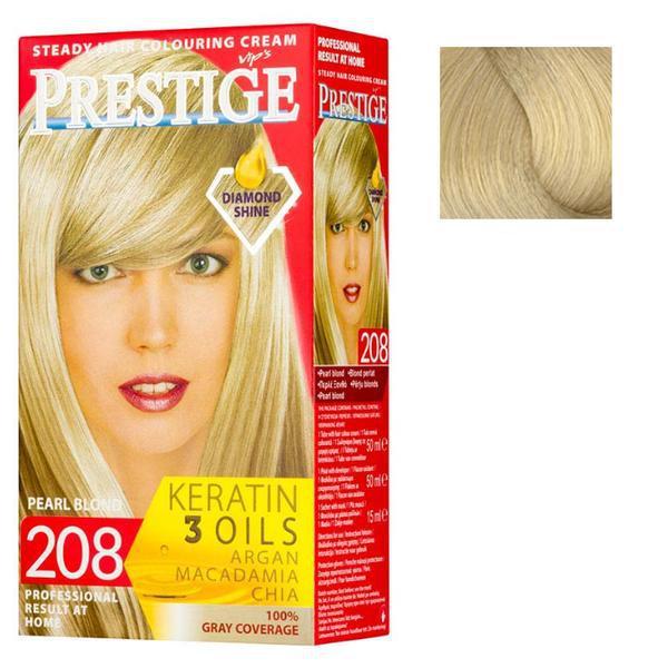 Vopsea pentru Par Rosa Impex Prestige, nuanta 201 Very Light Blonde